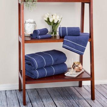 Lavish Home Zero Twist 100% Cotton 6 Piece Towel Set Color: Navy