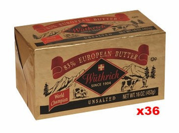 Wuthrich Wthrich European Style 83 % Unsalted Butter CASE (36 x 16 oz)