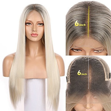 Fennell 13x6 Deep Parting Synthetic Hair Lace Front Wigs For Ladies Hight Qualiyt Heat Resistant Fiber Hair 4 Combs And Adjustable Straps Inside For Perfect Fit