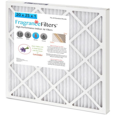 FragranceFilters Scented Indoor Air Filters, Option Lavender, Size 16x1x25