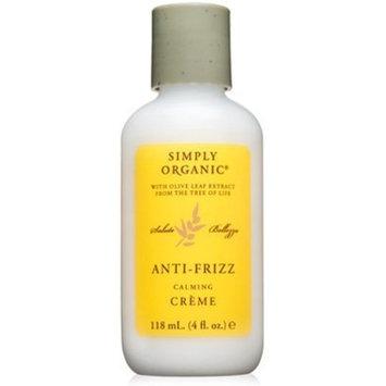 Simply Organic Anti-Frizz Creme, 4 oz