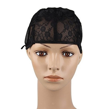 Bewish Floral Lace Full Wig Cap With Adjustable Straps For DIY Wig Weaving Sewing Hair Closure