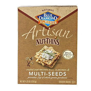 Gluten Free Artisan Nut-Thins Cracker Snacks with Multi-Seeds (Pack of Four - 4.25 Oz. Boxes) by Artisan Nut-Thins