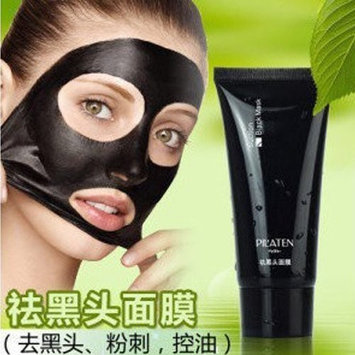 Black mask pilaten face mask Tearing style Deep Cleansing blackheads Acne eliminating anti-strawberry nose black mud masks 60g