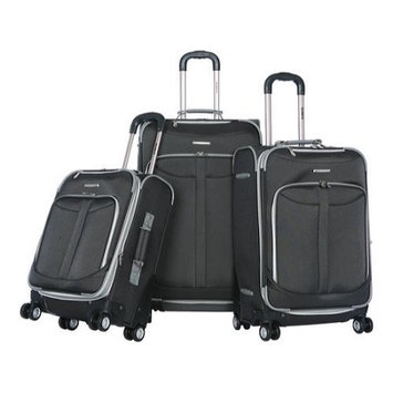 Olympia Tuscany 3 Piece Luggage Set (Black)