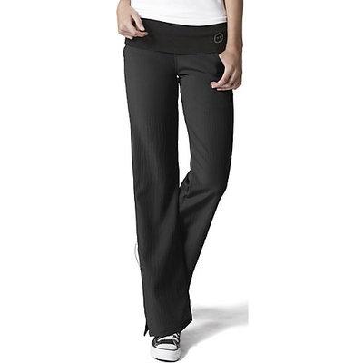 Four Stretch Knit Waist Flare Pant Black 2x-Large