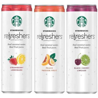 Pepsi Starbucks Refreshers, 3 Flavor Variety Pack with Coconut Water, 12 Fl Oz, 12 Count