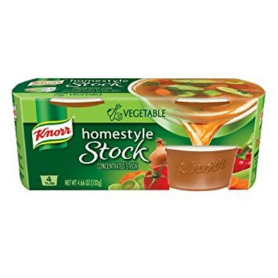 Knorr Homestyle Stock Vegetable Concentrated Broth, Vegetable 4.66 oz, 4 ct - Pack of 2