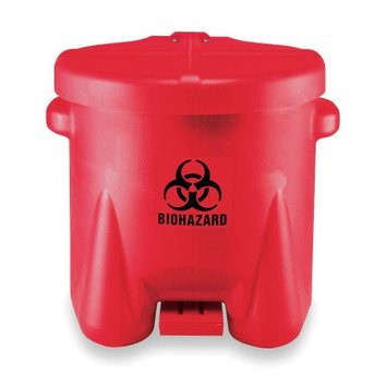 Eagle Manufacturing Company X 18 X 18 Red Polyethylene 10 Gallon BioHazard Oily Waste Cans