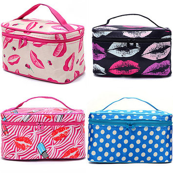 POLYHYMNIA Women Multifunction Travel Cosmetic Bag Makeup Case Pouch Toiletry Organizer
