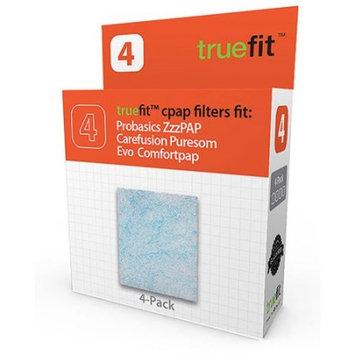 Truefit Ultagen CPAP Filter fits Probasics Zzz-PAP, CareFusion PureSom, Evo ComfortPAP, 4 pack