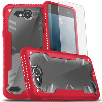 Zizo Wireless LG X Power 2 LV7 Case, Zizo Proton 2.0 Cover [Military Grade Drop Tested] w/ 0.3m 9H [Tempered Glass Screen Protector] - LG X Charge