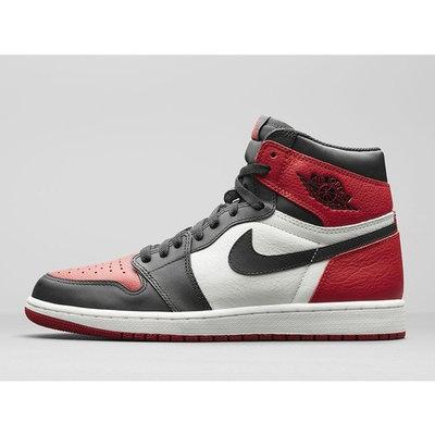Kids Air Jordan 1 Retro High OG GS Bred Toe Gym Red Black Summit White