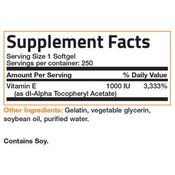 Bronson Vitamin E 1000 IU NON-GMO, 250 Softgels