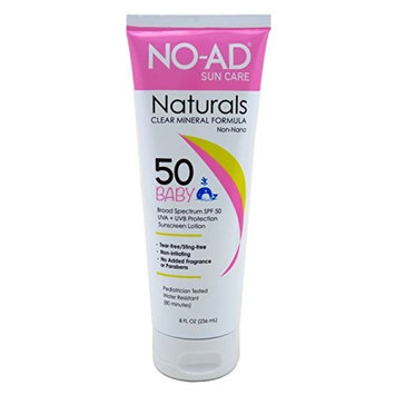 No-Ad Spf#50 Baby Naturals Minerals Lotion 8 Ounce Tube (236ml) (6 Pack)