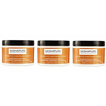 ARRIVAL PACK OF 3] SASHAPURE Restorative Conditioning Masque 8oz : Beauty