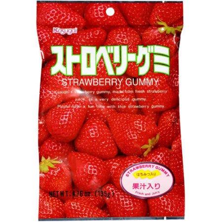 Kasugai Gummy Strawberry Fresh and Juicy Candies