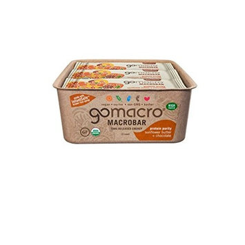 GoMacro Organic Macrobars, Sunflower Butter Chocolate, 2.3 Ounce (Pack of 24)