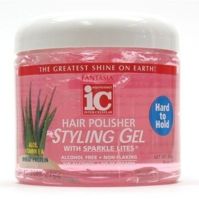 Fantasia Polisher Gel with Sparkles 16 oz. (Hard to Hold) by Fantasia IC