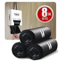 Trash bags 8 galllon,medium garbage bags trash can liners for office supplies fit home kitchen 6 gallon trash can black