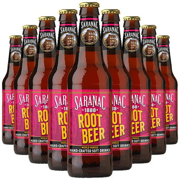 Saranac World Famous Hand-Crafted Root Beer, 12 oz Glass Bottles