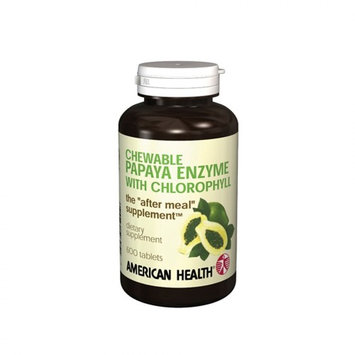 American Health Papaya Enzyme with Chlorophyll Chewable Tablets, 600 Count