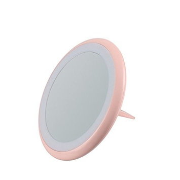 Ring makeup mirror, Lighting Modes Selfie Ring Light,Travel Size For iPhone Android Phone with Makeup Mirror and Brightness Adjustable LED Light, Fits for all Lighting Environment,