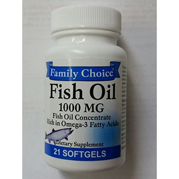 Family Choice Fish Oil Omega III Fatty Acids