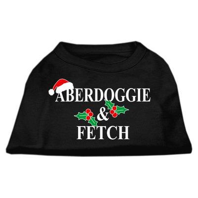 Mirage Pet Products 51-25-19 XXXLBK Aberdoggie Christmas Screen Print Shirt Black XXXL- 20