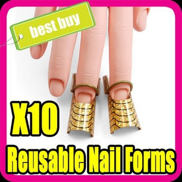 10 Reusable Forms Uv Gel Acrylic Nail Art Tips Nail Form S001G