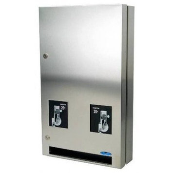 Frost 608-3-0.50 Napkin and Tampon Dispenser, Metallic