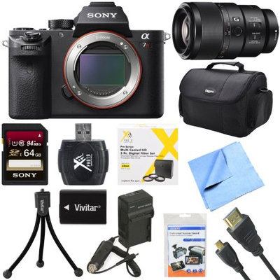 Sony a7R II Full-frame Mirrorless Interchangeable 42.4MP Camera Body 90mm Lens Bundle