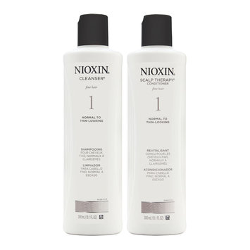 Coty Nioxin System 1 Duo Cleanser + Scalp Therapy, Fine Hair, Normal to Thin-Looking
