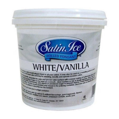 August Thomsen Corp. Satin Ice White Rolled Fondant Icing -2 Pounds