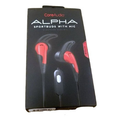 CoreAudio Alpha Sportbuds w Microphone - Red