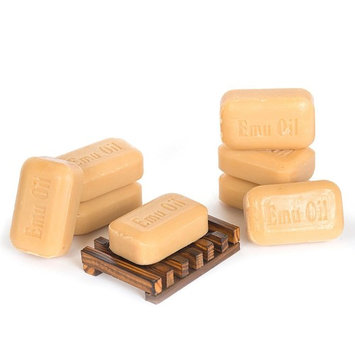 Soap Works Emu Oil Bar Soap, 8-Count with Free Soap Works Natural Wood Soap Dish