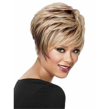Short Curly Wigs for Women Ombre Blonde Heat Resistant Synthetic Wigs 10 Inch