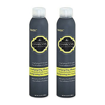 Hask Charcoal With Citrus Purifying Dry Shampoo, 6.5 Ounce (2pack)