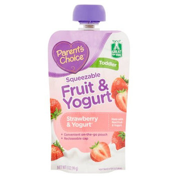 Parents Choice Parent's Choice Squeezable Fruit & Yogurt Strawberry & Yogurt Baby Food, 3.5 oz