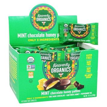 Chocolate Honey Patties Box Mint - 40 Count by Heavenly Organics