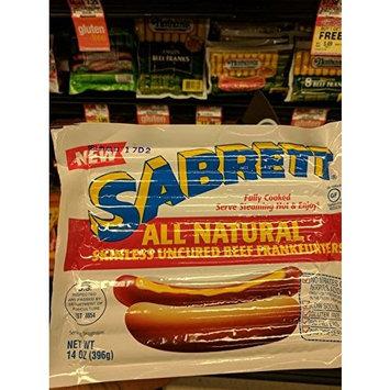 Sabrett All Natural Uncured Beef Franks 14 Oz (4 Pack)