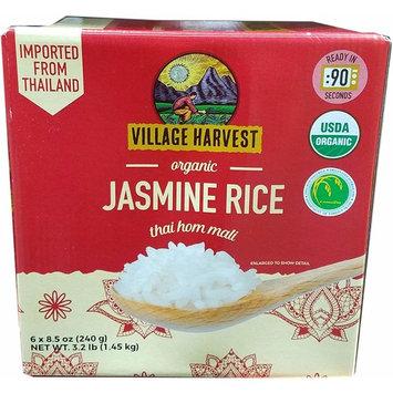 Village Harvest Thai Hom Mali Rice Organic Jasmine Rice (6X8.5 Ounce ) Net Wt 51 Ounce , 51 Ounce
