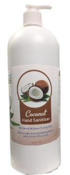 Live Germ Free Antibacterial Hand Sanitizer Gel with Jojoba Oil, Aloe Vera, & Vitamin E - Coconut 32 oz