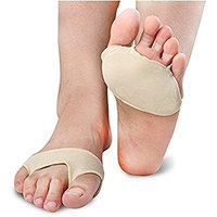 1Pair Half Toe Sleeve Foot Pads Forefoot Pads Cushions Insoles Inserts Orthotics for Foot Pain Relief Beige
