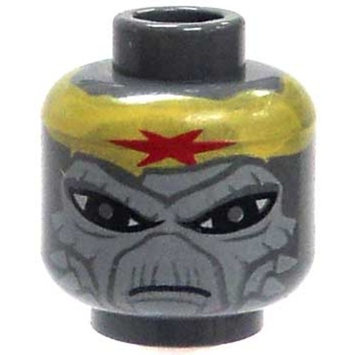 Gray Alien Head with Yellow Headband & Red Star Loose Head Star Wars