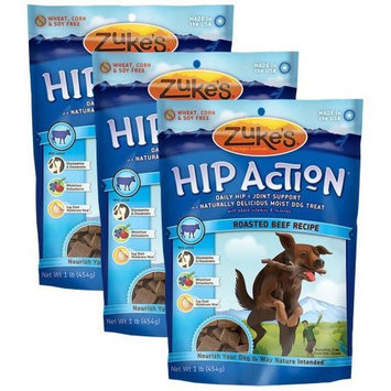 Not Available 3 Packs Zuke's Hip Action with Glucosamine and Chondroitin BEEF (3 lb)