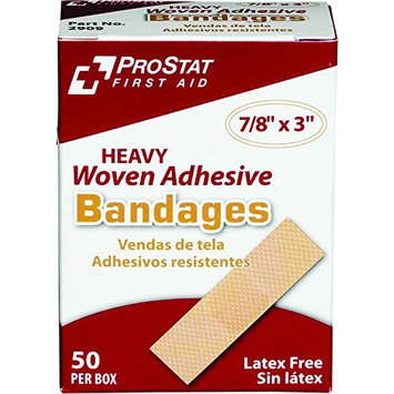 ProStat First Aid 2909 Heavy Woven Adhesive Bandages, 7/8