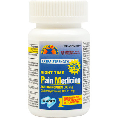 Pharmacy Items Extra Strength Pain Relief & Sleep Aid - 100 Caplets