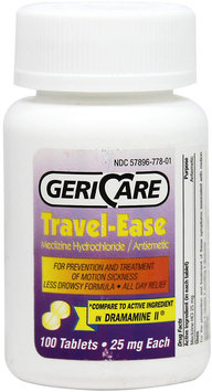 Gericare Travel-Ease Meclizine Hcl 25 Mg-100 Tablets