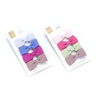 Girls Little Bow Hair Clip 4-pc Set - Pink & Purple - Multi Mix